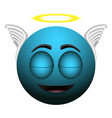 happy angel emoji vector image