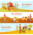 Harvest Farm Horizontal Banners vector image