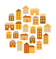 houses round pattern home icons vector image vector image