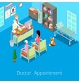 Isometric Medical Cabinet Doctor Appointment vector image vector image
