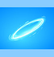 light ring on blue background vector image vector image