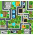 map city top view design flat vector image