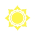 Mechanical logo yellow sun vector image vector image