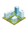 modern downtown architecture isometric icon vector image vector image