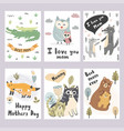 mother s day greeting cards collection vector image