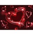 Neon or plasma hearts vector image vector image
