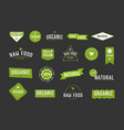 Organic labels set collection various logo for