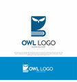 owl bird logo icon vector image