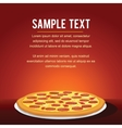 Pepperoni Pizza Background vector image
