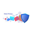 personal data privacy concept information security vector image