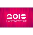 Pink 2016 New Year Banner vector image vector image