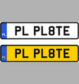 poland number plate vector image vector image