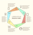 Polygonal infographic diagram vector image