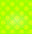 pop art background of a color green and vector image vector image