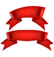 realistic red decorative ribbon eps 10 vector image vector image