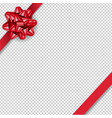 red bow isolated with transparent background vector image vector image