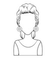 retro woman icon vector image vector image