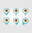 rubber garden gloves flat pin map icon vector image vector image