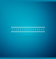 ruler icon on blue background straightedge symbol vector image vector image