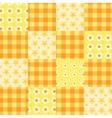 seamless patchwork pattern orange vector image vector image