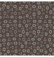 seamless pattern of geometric shapes on a dark bac vector image vector image