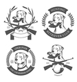 Set of hunting retriever logos labels and badges vector image vector image