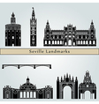 Seville landmarks and monuments vector image vector image
