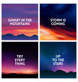 square blurred mountain background set - mountain vector image vector image