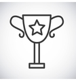 Trophy cup Silhouette icon design graphic vector image