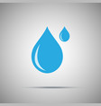 two water drops icon vector image vector image