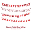 Valentines day greeting card with festive garlands vector image vector image