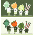 vegetables colored cartoon vector image