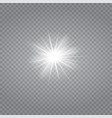 white glowing light burst explosion vector image vector image
