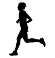 young woman runner running vector image vector image
