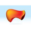 abstract orange organic shape vector image