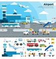 Working day in the airport vector image