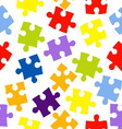 Seamless pattern with color puzzles vector image
