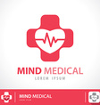 Mind medical symbol icon vector image