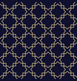 abstract arabic seamless patterndark blue and vector image vector image