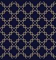 abstract arabic seamless patterndark blue vector image vector image
