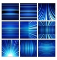Abstract white blue and black stripes backgrounds vector image vector image