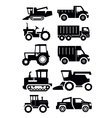 agricultural transport vector image vector image