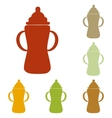 Baby bottle sign vector image vector image