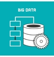 big data center flat icons vector image vector image