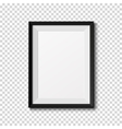 Black frame isolated on transparent background vector image vector image