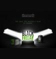 black friday countdown realistic banner vector image vector image