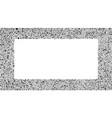 black grey bubbles rectangle frame random dots vector image