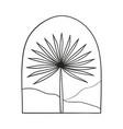 bohemian modern arch logo design palm mountains