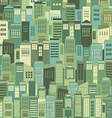 Buildings In The City Pattern Background vector image vector image