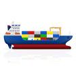 cargo ship 02 vector image vector image